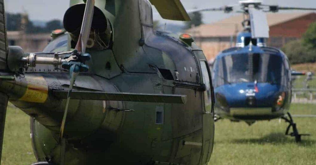 Hélicoptère livraison pièces détachées maintenance
